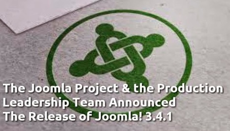 The Joomla Project & the Production Leadership Team Announced The Release of Joomla! 3.4.1 | Open Source CMS | Scoop.it