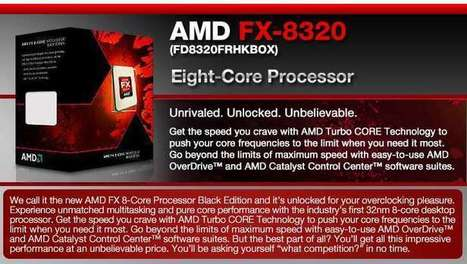 AMD FX-8320 Eight-Core 3.5GHz AM3+ Processor - $144.99 | Electronics & Computers Store | Scoop.it