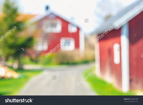 Defocused red country house in vivid colors during summer. Sweden   Krylbo en del av europa   Scoop.it