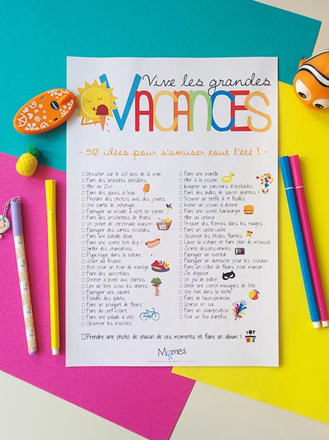 Poster 50 idées d'activités pour l'été ! | FLE enfants | Scoop.it