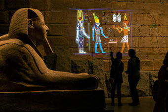 Projection mapping reveals colours of Egyptian temple | The Archaeology News Network | Kiosque du monde : Afrique | Scoop.it