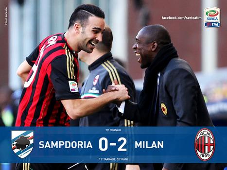 Seconda vittoria esterna della gestione Seedorf. Il Milan sale a 35 punti e vede l'Europa, ancora con un grande Taarabt.   Milanista X Sempre   Scoop.it