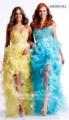 Sherri Hill 2415 Hi-Lo Ruffle Sequins Prom Dresses [cheap high low prom dresses] - $160.00 : Cheap Sequin Prom Dresses2014,Online Tailored Prom Dresses Shop,Homecoming Dresses Cheap | sherri hill prom dresses 2014 | Scoop.it
