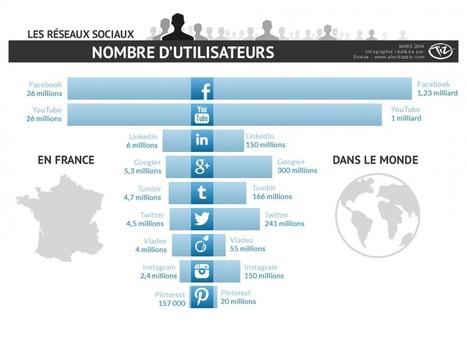 Nombre d'utilisateurs des réseaux sociaux en France et dans le monde | 16s3d: Bestioles, opinions & pétitions | Scoop.it