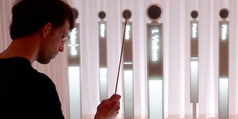 Conduct a Virtual Symphony With Touchscreens and an Interactive Baton | Design | WIRED | audio branding | Scoop.it