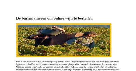 De Basismanieren Om Online Wijn Te Bestellen | Bookmarks | Scoop.it