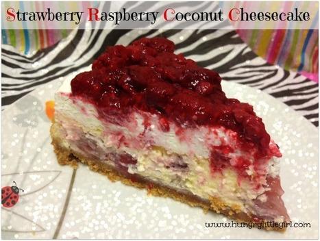 Strawberry Raspberry Coconut Cheesecake - HungryLittleGirl | Recipes | Scoop.it