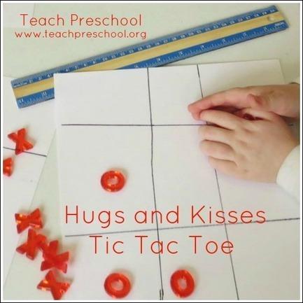 Hugs and kisses tic-tac-toe | Teach Preschool | Teach Preschool | Scoop.it