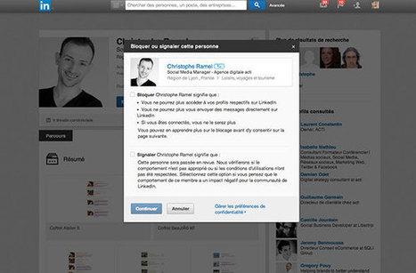 LinkedIn permet maintenant de bloquer les autres utilisateurs | Actualité Social Media : blogs & réseaux sociaux | Scoop.it