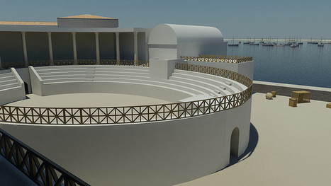 Proposed amphitheatre with Claudian Basin beyond | PORTUS MUSEUM 2014 | Scoop.it