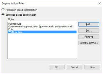 (CAT) - Beyond Punctuation: Creating Custom Segmentation Rules in Studio | Nora Díaz | Glossarissimo! | Scoop.it