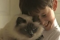 """A Special Cat Helps A Seven-Year-Old Boy Say """"I Love You"""" For The First Time 