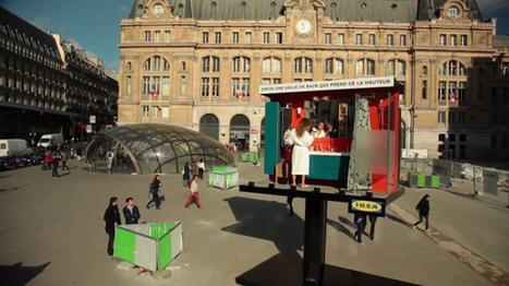 IKEA : une salle de bain dans un panneau publicitaire | Opés | Scoop.it