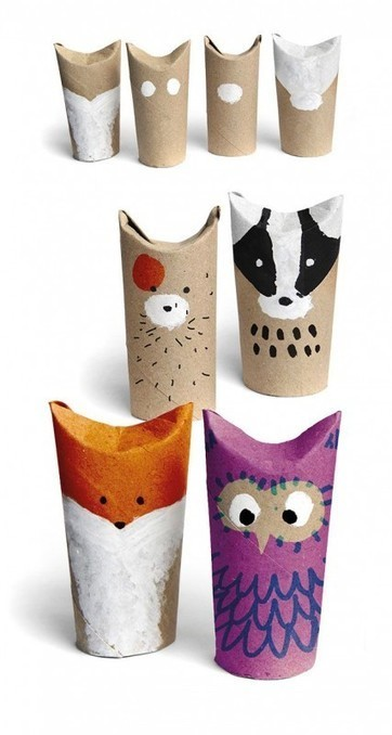 Easy crafts with toilet paper rolls | DIY Arts & Crafts | Scoop.it