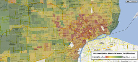 Infographic: The Average Income For Every Neighborhood In America | Map@Print | Scoop.it