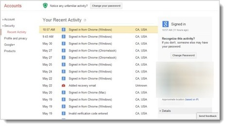 View your recent Google account activity - CNET (blog) | Visual Intelligence | Scoop.it