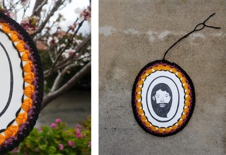 infinity blend: Drawings with crochet frames | Infinity blend | Scoop.it