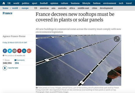 French solar green roof law kicked out by French Senate | Greenroofs & Urban biodiversity | Scoop.it