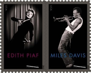 Davis and Piaf Making Waves | USPS Stamp of Approval | pere lachaise cemetery Visits Audio & books | Scoop.it
