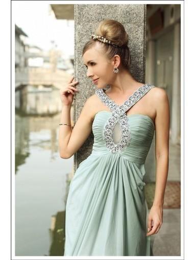 High Quality Beading Chiffon A-Line V-neck Floor-length Green Prom Dress WNP0008 - Prom Dress Online Shop | prom dress | Scoop.it