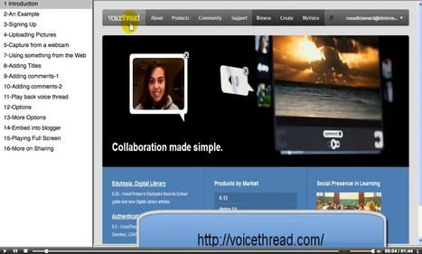 Voicethread tutorial: Russell Stannard   TELT   Scoop.it