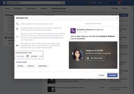 Facebook Live unlocks scheduling and pre-stream lobby, first for verified Pages | SportonRadio | Scoop.it