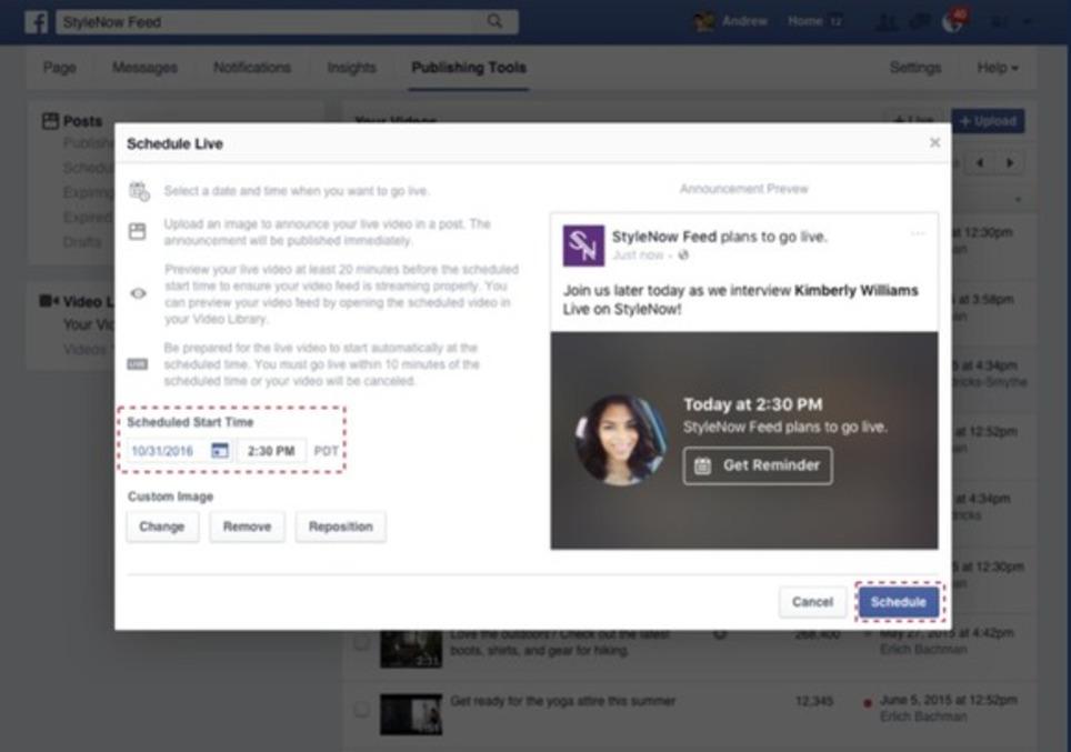 Facebook Live : lancement de la planification des diffusions, de posts d'annonce, et d'écrans d'accueil - Blog du Modérateur | Les Médias Sociaux pour l'entreprise | Scoop.it