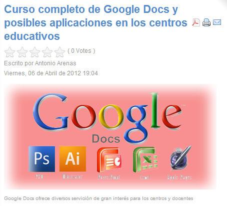 Curso completo de Google Docs y posibles aplicaciones en los centros educativos | Noticias, Recursos y Contenidos sobre Aprendizaje | Scoop.it