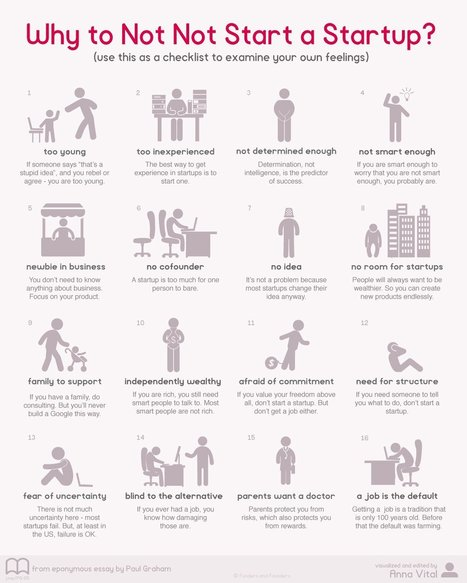 This graphic will demolish every excuse you have for not founding a startup | Career Management & Teaching | Scoop.it