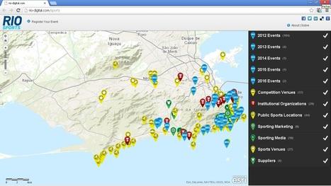 Rio Negócios e Imagem mapeiam setor de esportes no Rio de Janeiro com uso da Inteligência Geográfica   ArcGIS Geography   Scoop.it