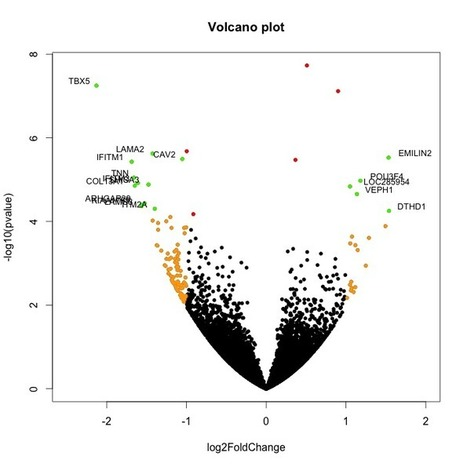 Getting Genetics Done: Using Volcano Plots in R to Visualize Microarray and RNA-seq Results | Programming in Bioinformatics | Scoop.it