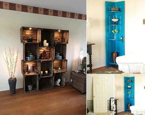 15 Cool DIY Display Shelf Ideas for Your Living Room | Amazing interior design | Scoop.it