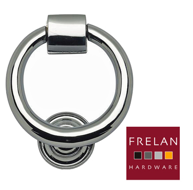 'RING' DOOR KNOCKERS, POLISHED CHROME, SATIN CHROME OR POLISHED BRASS - JV37 from The Door Handle Company | House Design | Scoop.it