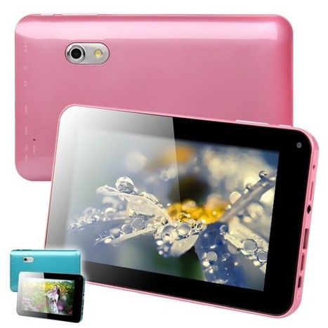 """A20 7"""" Android 4.2 Allwinner Dual-Core Tablet PC (512MB RAM 4GB ROM) - Assorted Colors 