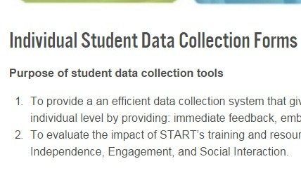 Individual Student Data Collection Forms - START Project - Grand Valley State University | SEL Assessment and Monitoring | Scoop.it