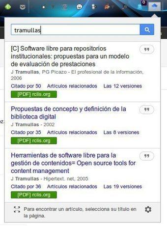 Google Scholar en tu navegador: botones para Firefox y Chrome | +Información | Scoop.it