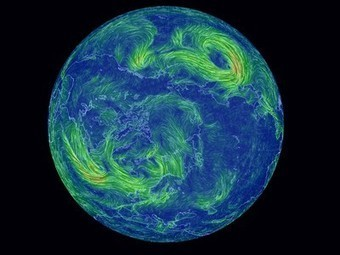 Hypnotically beautiful real-time wind map of Earth created by supercomputers | Amazing Science | Scoop.it