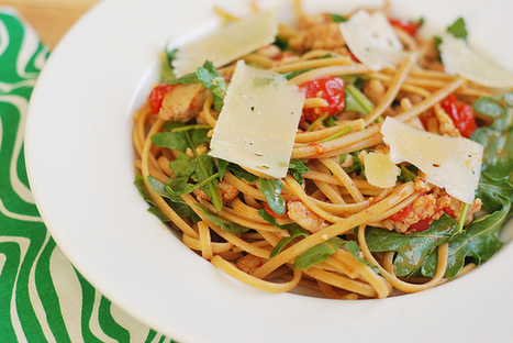 Sausage, Tomato, and Arugula Linguine | Fake Ginger | À Catanada na Cozinha Magazine | Scoop.it