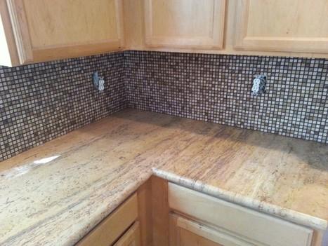 Travertine Tile Countertop and Backsplash Design Ideas | Natural Stone Travertine Tiles | Scoop.it