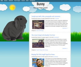 Bunny Blogger Template | Blogger themes | Scoop.it