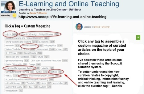 Curated articles at the tap of a tag: E-Learning and Online Teaching Magazine: | Curation in Higher Education | Scoop.it