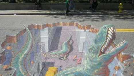 Chalk artists create 3D illusions on the the streets of Atlantic City — NewsWorks | The brain and illusions | Scoop.it