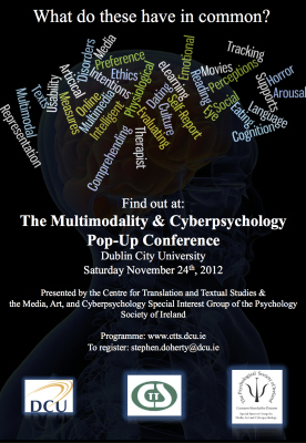 Proceedings from the Multimodality & Cyberpsychology Pop-Up ... | Internet Psychology | Scoop.it