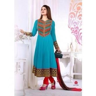 KAINATH DESIGNER PARTYWEAR Semi-Stiched ANARKALI SUIT-1008 | Online Shopping | Scoop.it
