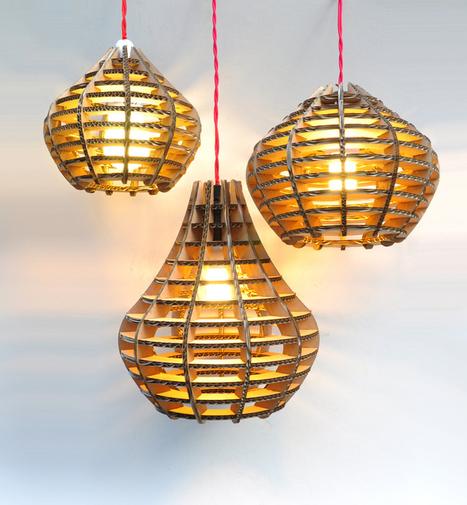DIY 20 Creative Cardboard Lamp Ideas | DesignRulz | Designing Interiors | Scoop.it