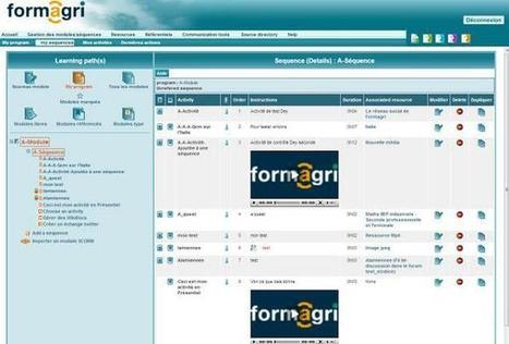 The panel which manage courses in Formagri LMS | LMS Formagri | Scoop.it