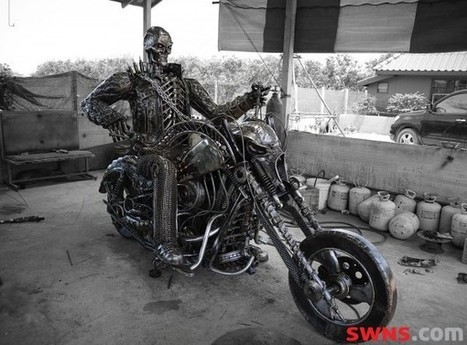 They're hard as metal! Iconic film characters sculptured from body ...   Metal Art   Scoop.it