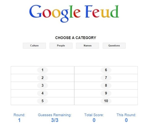 Google Feud - turns Google search suggestions into a game | TELT | Scoop.it