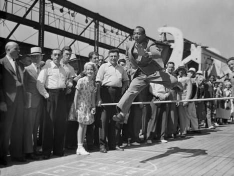 Twitter / History_Pics : Jesse Owens, in a suit, practices ...   Gamification   Scoop.it