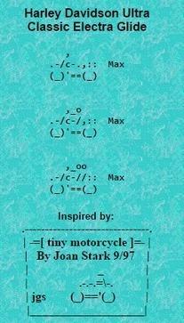 Harley Davidson Classic in ASCII | ASCII Art | Scoop.it